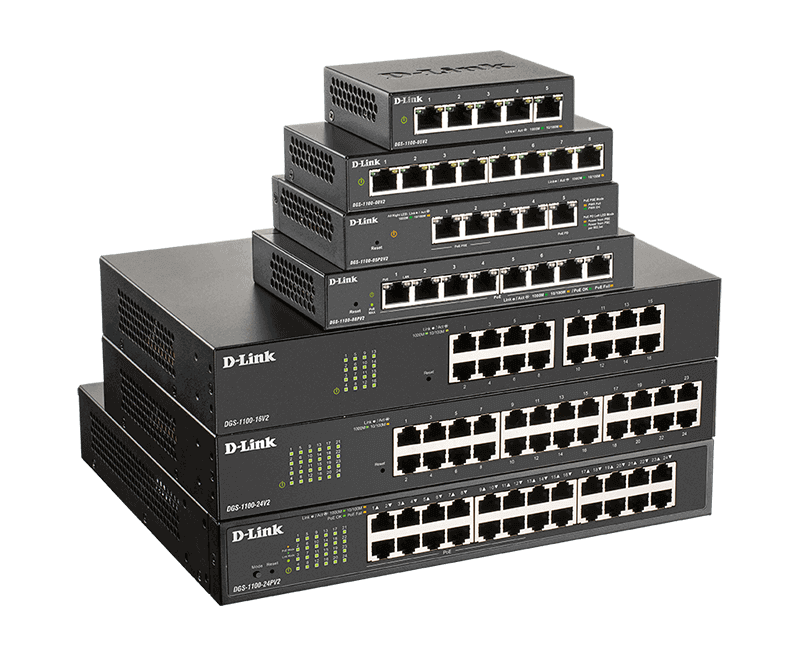 DGS-1100 Series Gigabit Smart Managed Switches